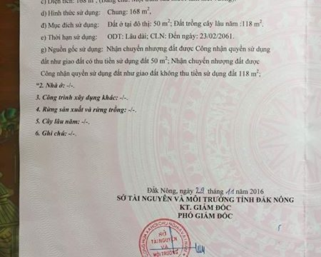 Ban dat Dak Nong – gan benh vien Gia Nghia