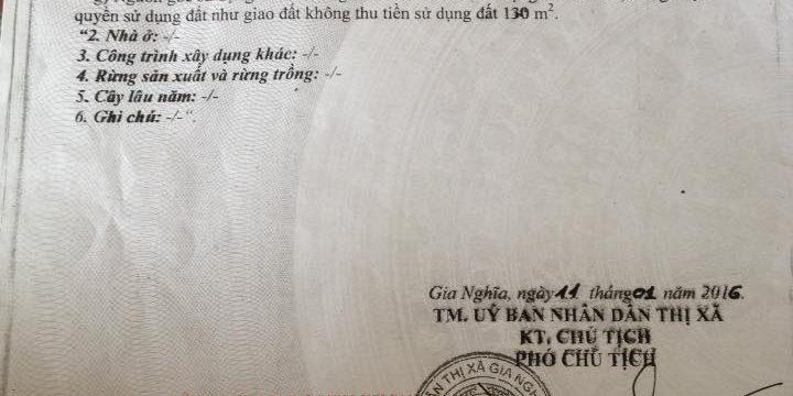 Đất giá rẻ trung tâm Gia Nghĩa – mua dat Dak Nong
