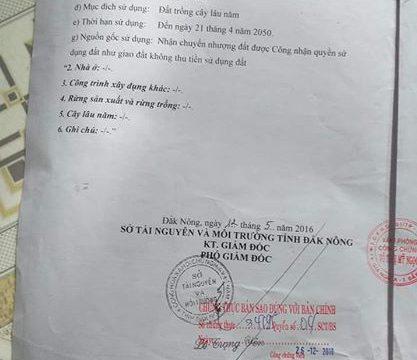 Cần bán đất gần trường dạy nghề tỉnh Đắk Nông
